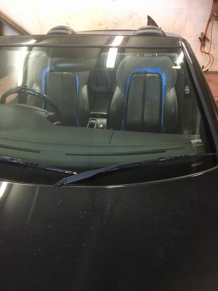 painting a car interior with Fusion Mineral Paint.