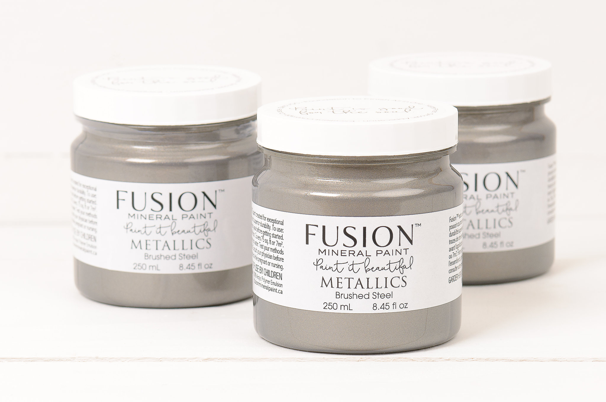 Fusion™ Metallics Brushed Steel