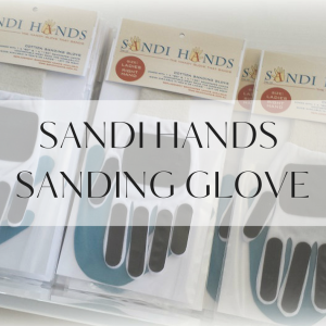 Sandi Hands the handy glove that sands.