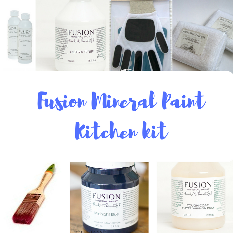 Paint your kitchen with Fusion Mineral Paint.