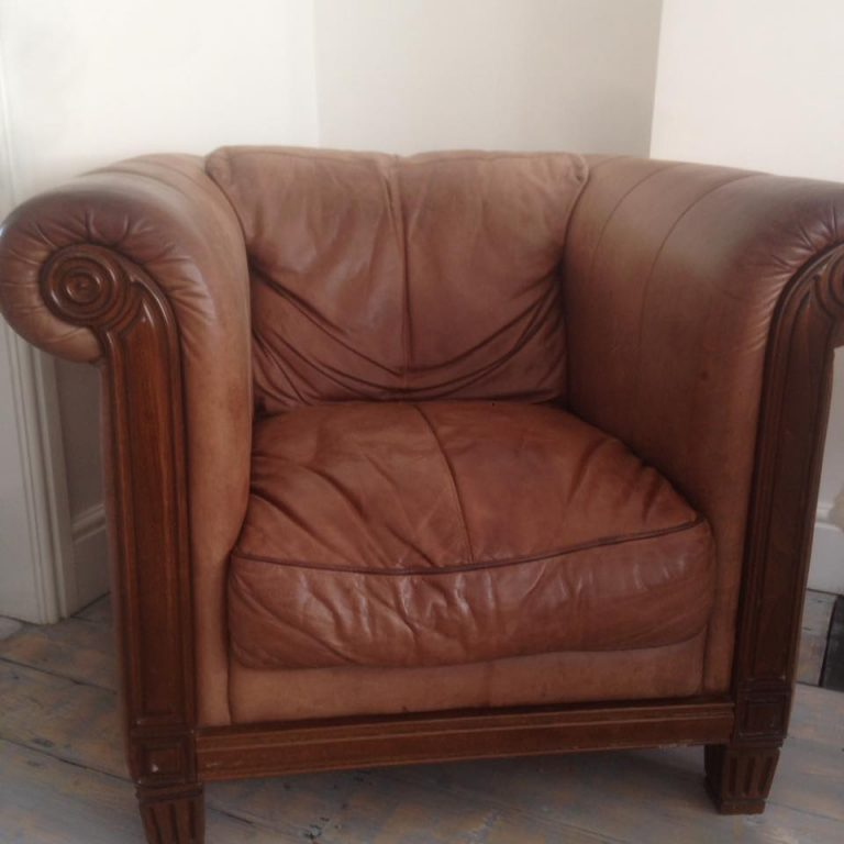 Leather Armchair pre painting