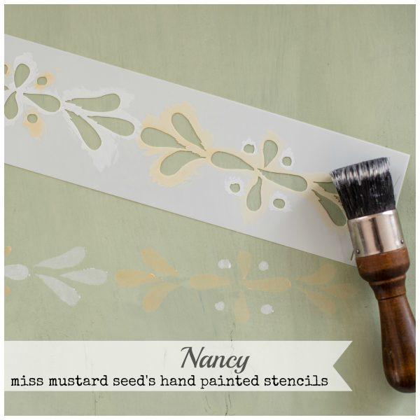 Miss Mustard Seed Stencil Nancy.