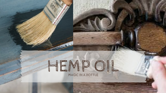 Hemp Oil on Milk Paint and Bare Wood.