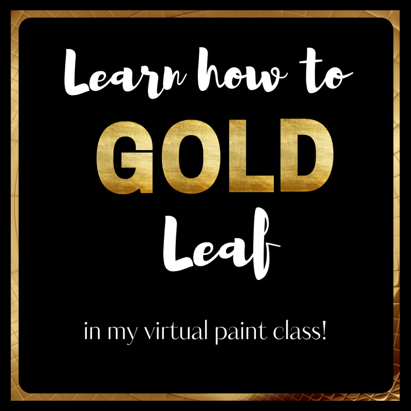 Virtual Paint Class Learn how to Gold Leaf