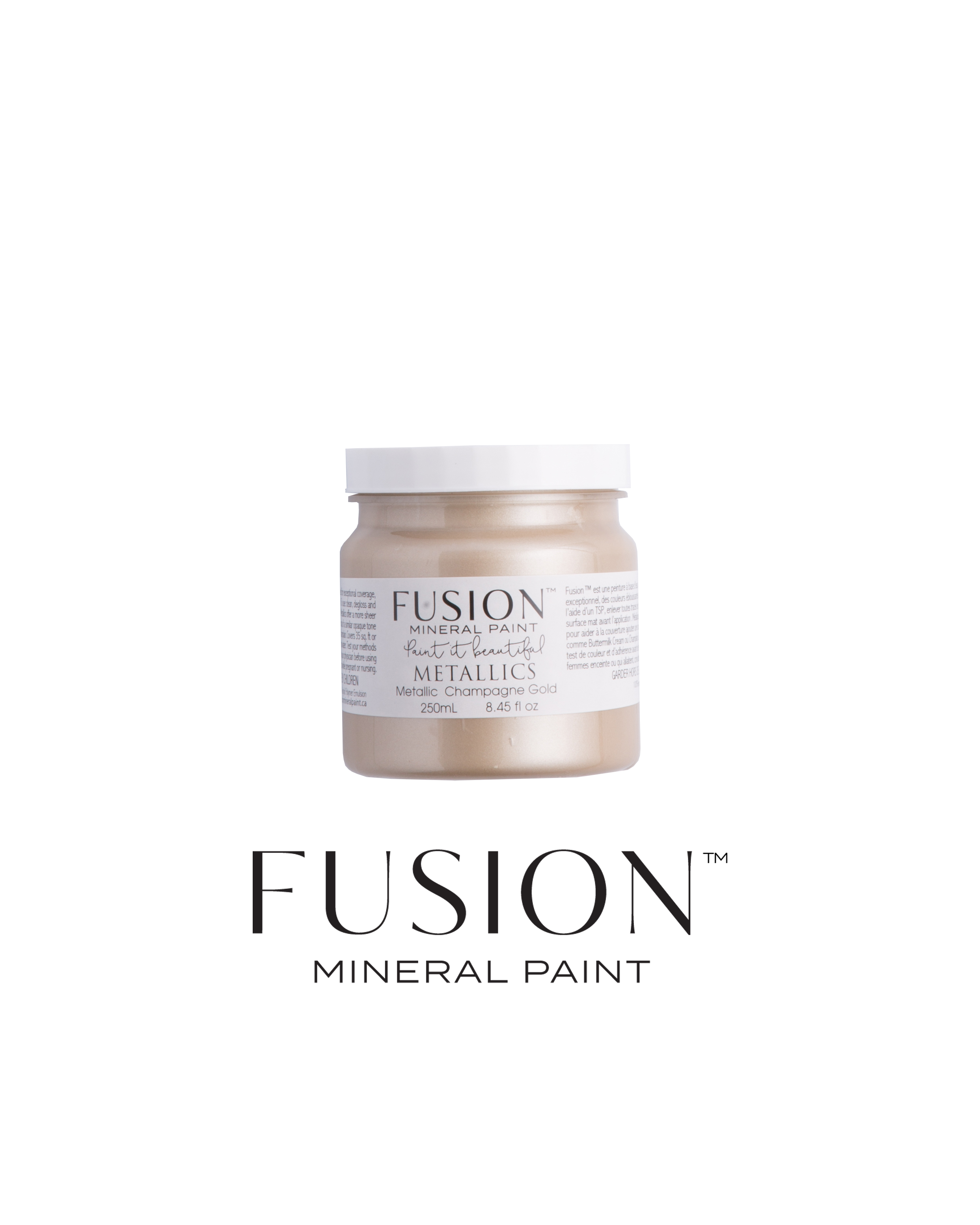 Champagne Gold Metallic Fusion Mineral Paint