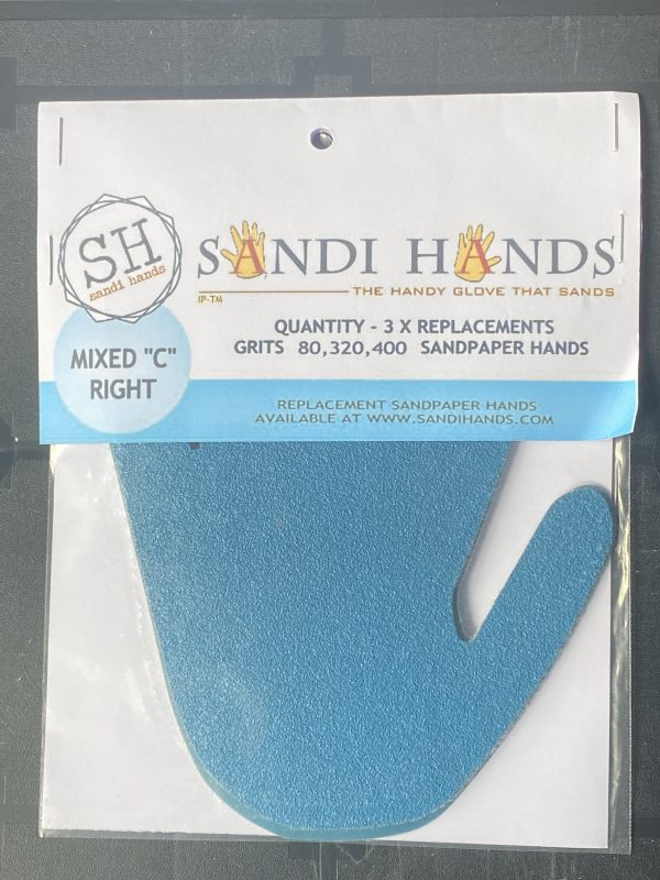 Sandi hands pack of 3 replacement grits - Home Revival