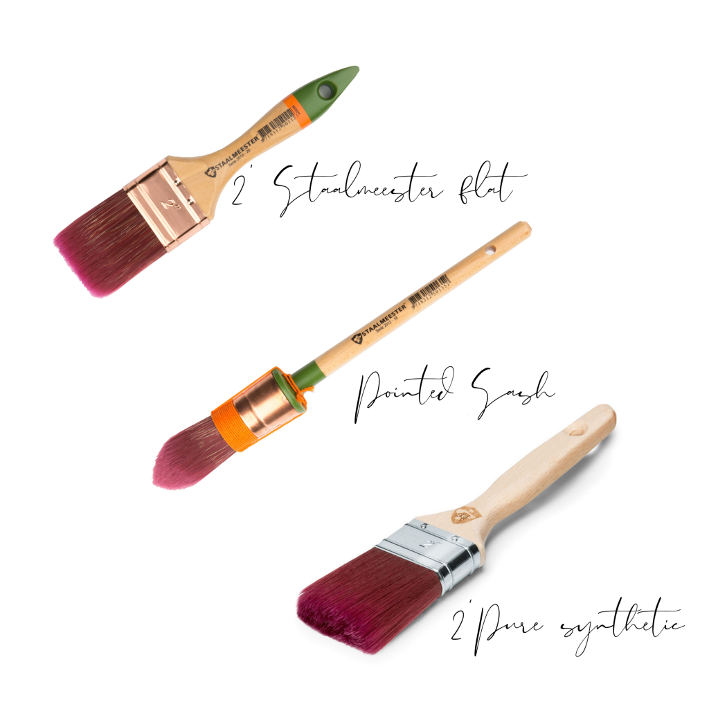 3 different brushes