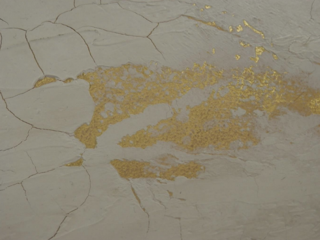 Cracked Plaster over Gold Leaf Finish - Home Revival Interiors