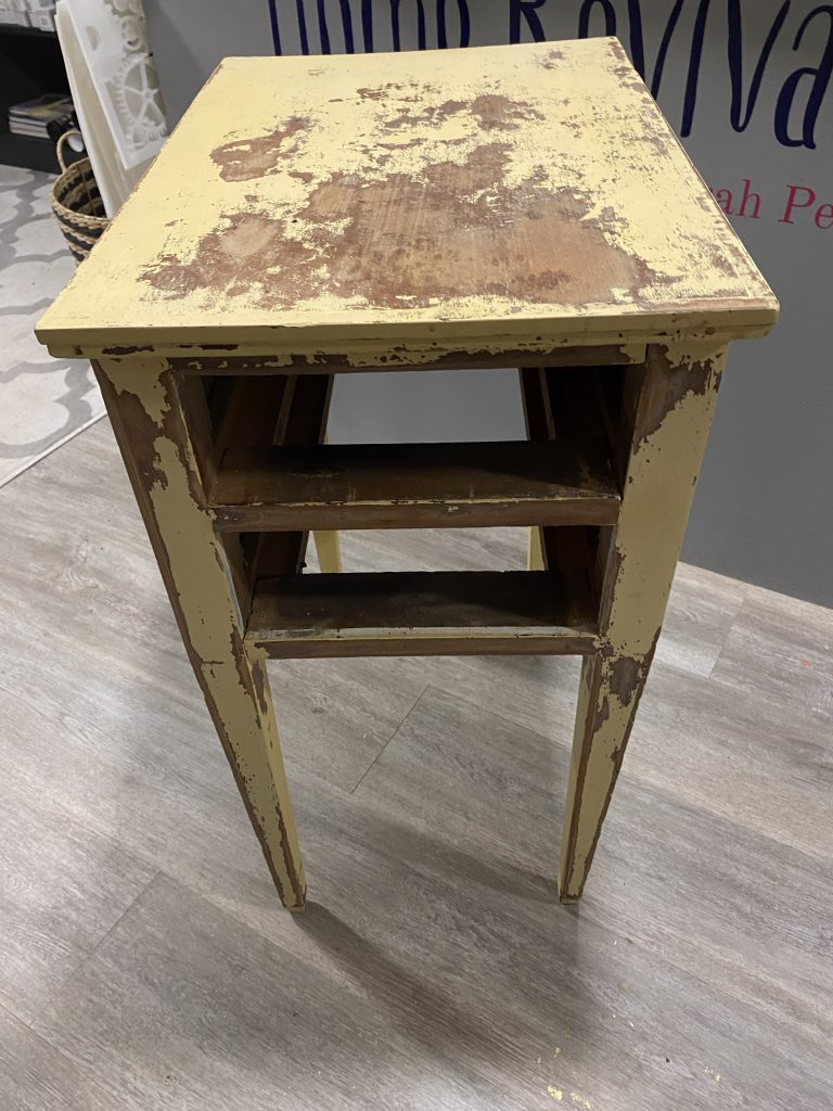 old chippy paint nightstand